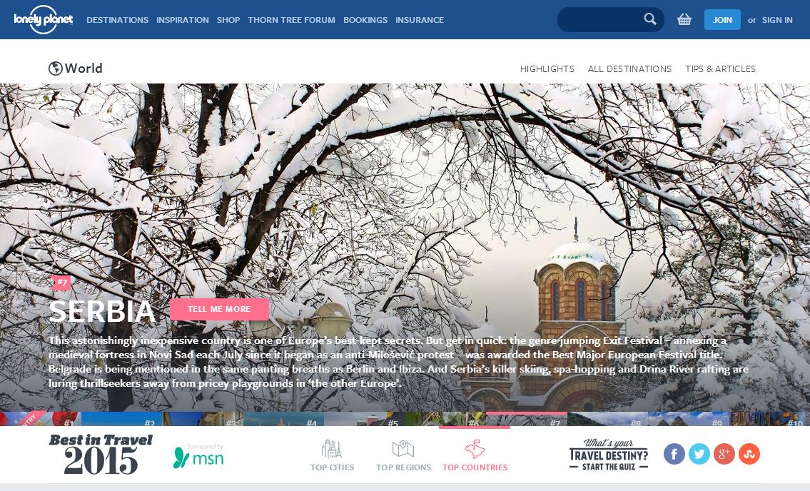 Srbija Lonely Planet