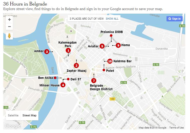 Njujork tajms o Beogradu, mesta koja je ekipa obišla